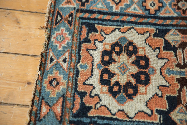 Antique Bagface Kurdish Square Rug Mat / Item 6223 image 5