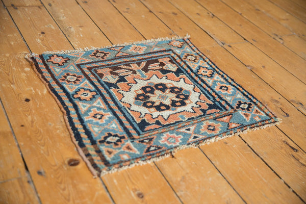 Antique Bagface Kurdish Square Rug Mat / Item 6223 image 6
