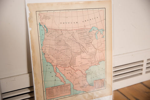 Map of Louisiana Purchase Cram's Unrivaled Atlas of the World 1907 Edition