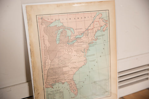 Map of USA Cram's Unrivaled Atlas of the World 1907 Edition