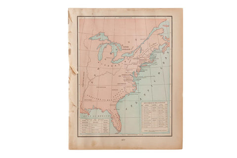 Map of US History Cram's Unrivaled Atlas of the World 1907 Edition