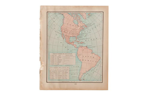 Map of Americas Cram's Unrivaled Atlas of the World 1907 Edition