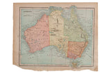 Map of Australia Cram's Unrivaled Atlas of the World 1907 Edition