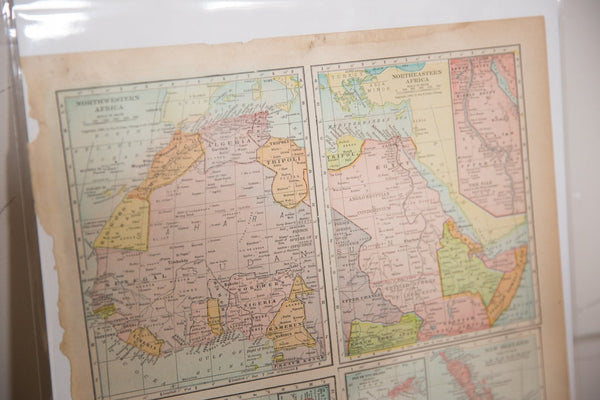 Map of Africa Regions Cram's Unrivaled Atlas of the World 1907 Edition
