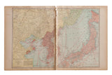 Map of Korea Cram's Unrivaled Atlas of the World 1907 Edition