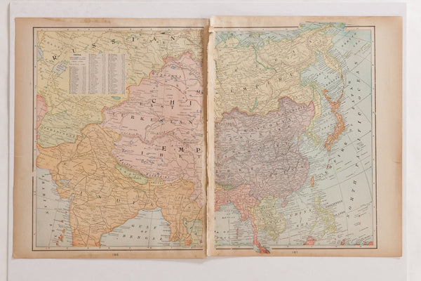 Map of Holy Land Cram's Unrivaled Atlas of the World 1907 Edition