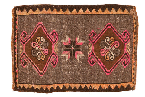 Vintage Distressed Oushak Square Rug Mat / ONH item 6407
