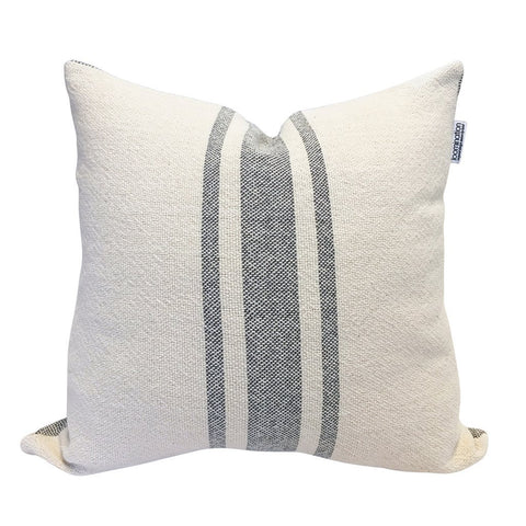 Loomination Woven Pillow Vintage Stripe Gray