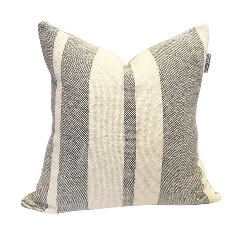 Loomination Woven Pillow Everyday Stripe Gray