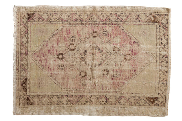 Vintage Distressed Oushak Rug / ONH item 6474