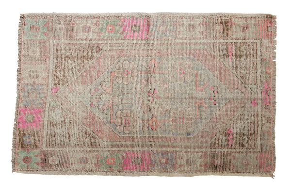 Vintage Distressed Oushak Rug / ONH item 6477