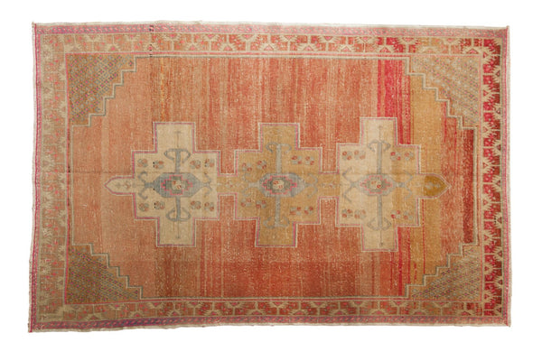 Vintage Distressed Oushak Rug / ONH item 6489