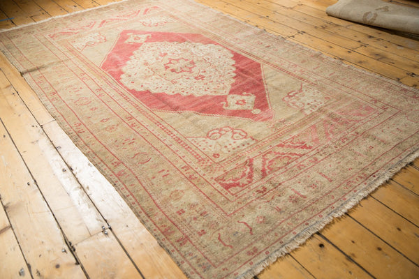 Vintage Distressed Oushak Carpet / Item 6505 image 3