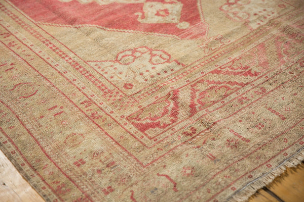 Vintage Distressed Oushak Carpet / Item 6505 image 4
