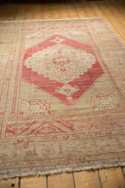 Vintage Distressed Oushak Carpet / Item 6505 image 5