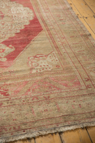 Vintage Distressed Oushak Carpet / Item 6505 image 6
