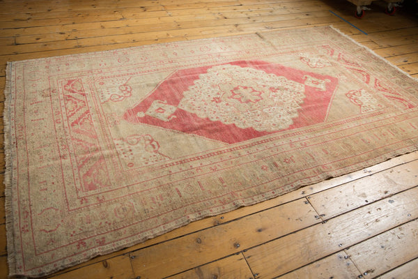 Vintage Distressed Oushak Carpet / Item 6505 image 7