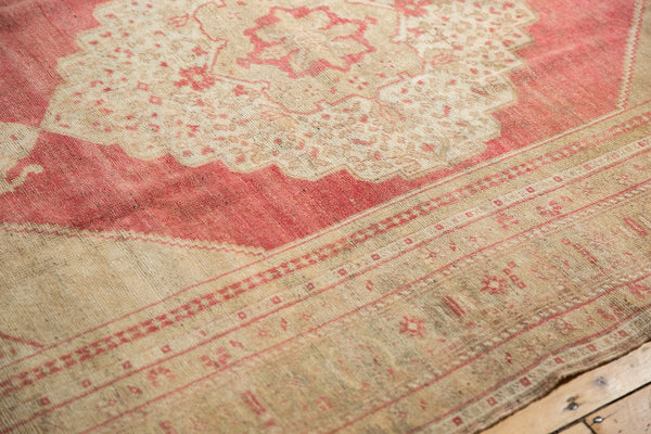 Vintage Distressed Oushak Carpet / Item 6505 image 8