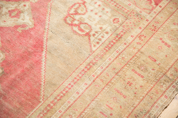 Vintage Distressed Oushak Carpet / Item 6505 image 9