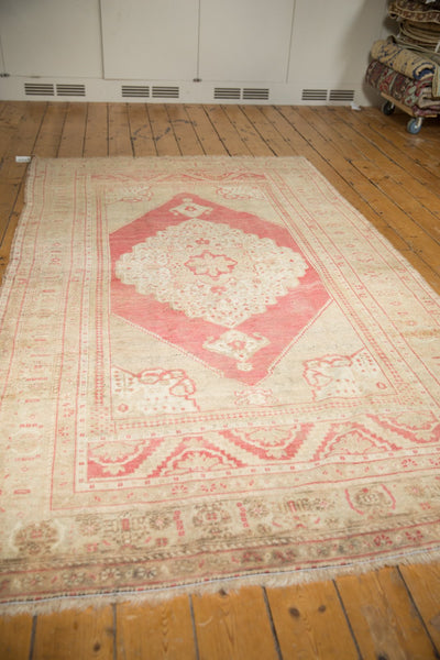 Vintage Distressed Oushak Carpet / Item 6505 image 10