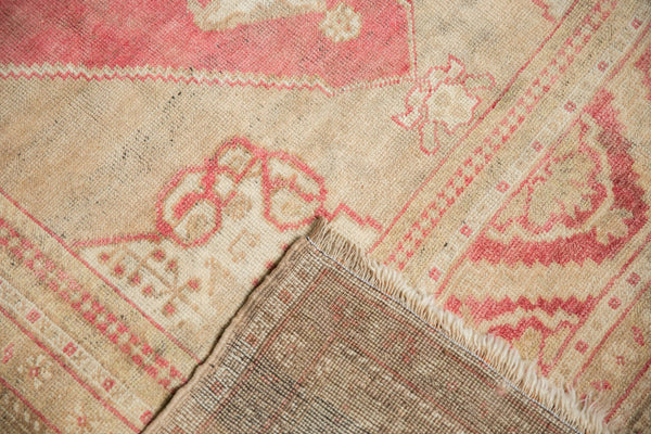 Vintage Distressed Oushak Carpet / Item 6505 image 12