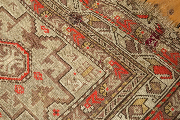 Antique Caucasian Square Rug / Item 6522 image 7