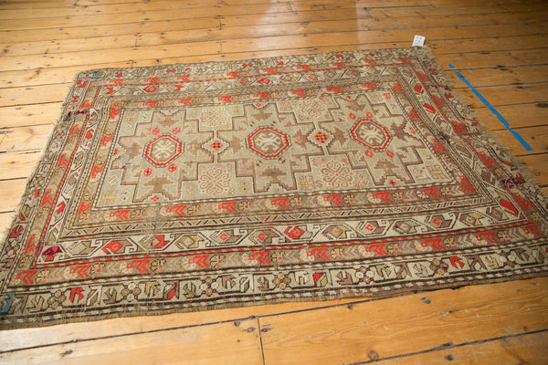 Antique Caucasian Square Rug / Item 6522 image 8