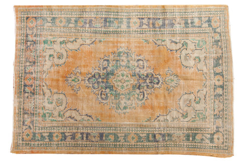 Vintage Distressed Oushak Carpet / ONH item 6563
