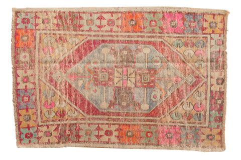 Vintage Distressed Oushak Rug / ONH item 6567