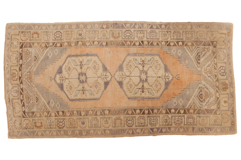 Vintage Distressed Oushak Rug Runner / ONH item 6571