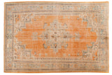 Vintage Distressed Oushak Carpet / ONH item 6572
