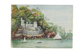 Antique Picklecombe Fort Watercolor Painting / ONH Item 6650