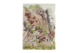 Antique Rocks Watercolor Painting / ONH Item 6659