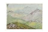 Dartmoore From Princetown Watercolor / ONH Item 6661