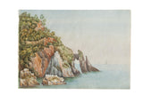 Natural Arch Antique Watercolor Painting / ONH Item 6664