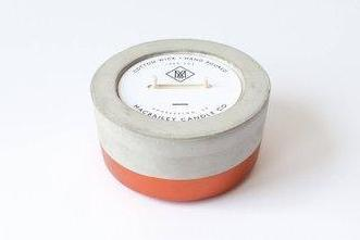 Scented Soy Candle in Copper Dipped Concrete // ONH Item 6674