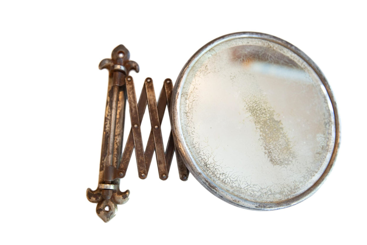 Antique Fleur De Lis Shaving Mirror // ONH Item 6701