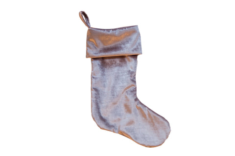 Made in USA Velvet Stocking Lavender Silver