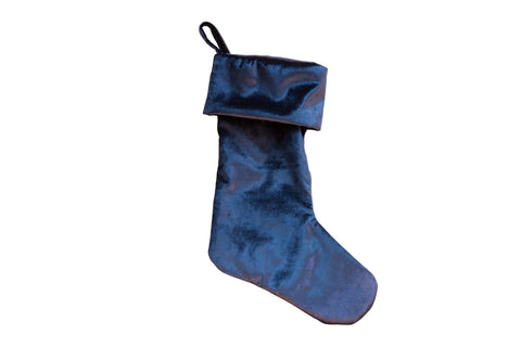 Made in USA Velvet Stocking Cobalt Navy