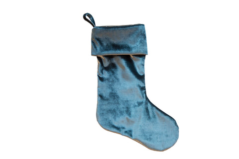 Made in USA Velvet Stocking Teal