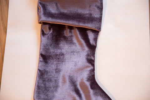 Made in USA Velvet Stocking Light Plum