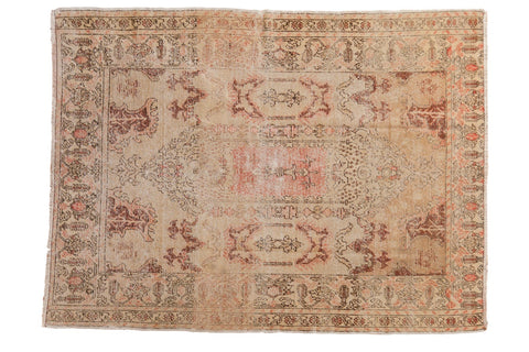 Vintage Distressed Oushak Rug / ONH item 6765