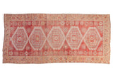 Vintage Distressed Oushak Rug Runner / ONH Item 6780