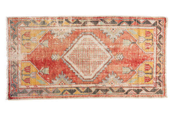 Vintage Distressed Oushak Rug Runner / ONH Item 6783