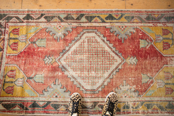 Vintage Distressed Oushak Rug Runner / ONH Item 6783 Image 1
