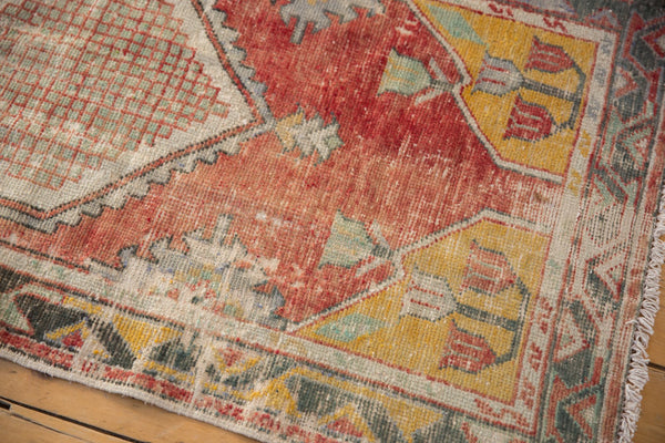 Vintage Distressed Oushak Rug Runner / ONH Item 6783 Image 3