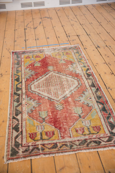 Vintage Distressed Oushak Rug Runner / ONH Item 6783 Image 4