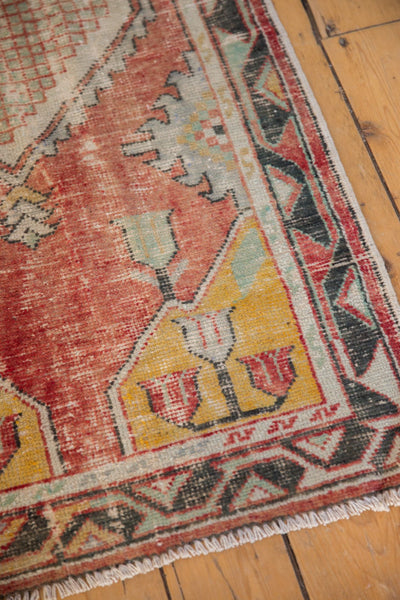 Vintage Distressed Oushak Rug Runner / ONH Item 6783 Image 5