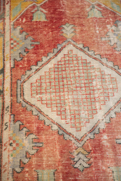 Vintage Distressed Oushak Rug Runner / ONH Item 6783 Image 6