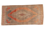 Vintage Distressed Oushak Rug Runner / ONH item 6789